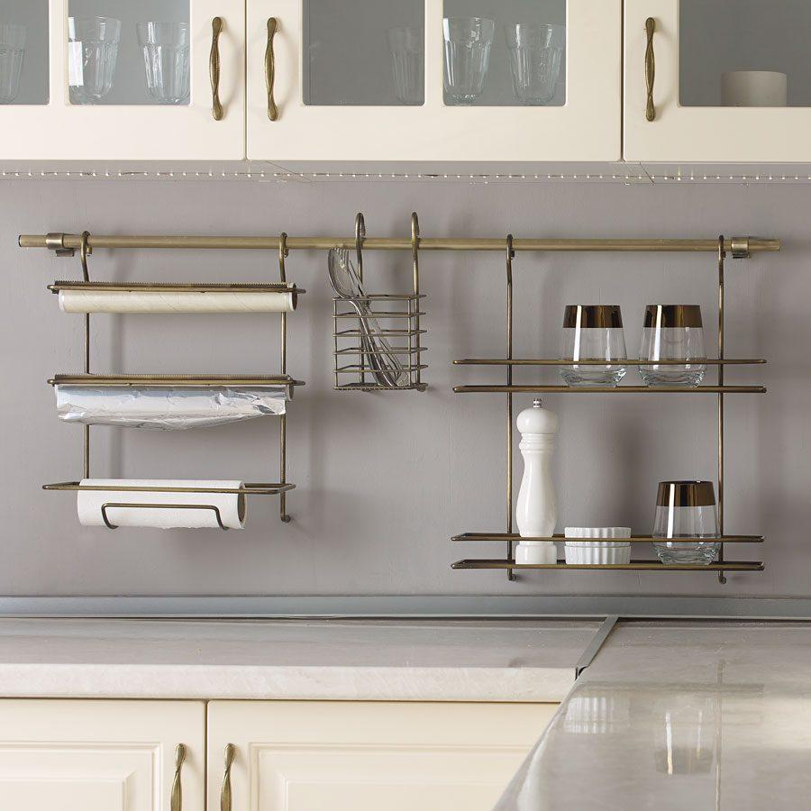 Mutfakta düzeni sağlayan eşyalar.