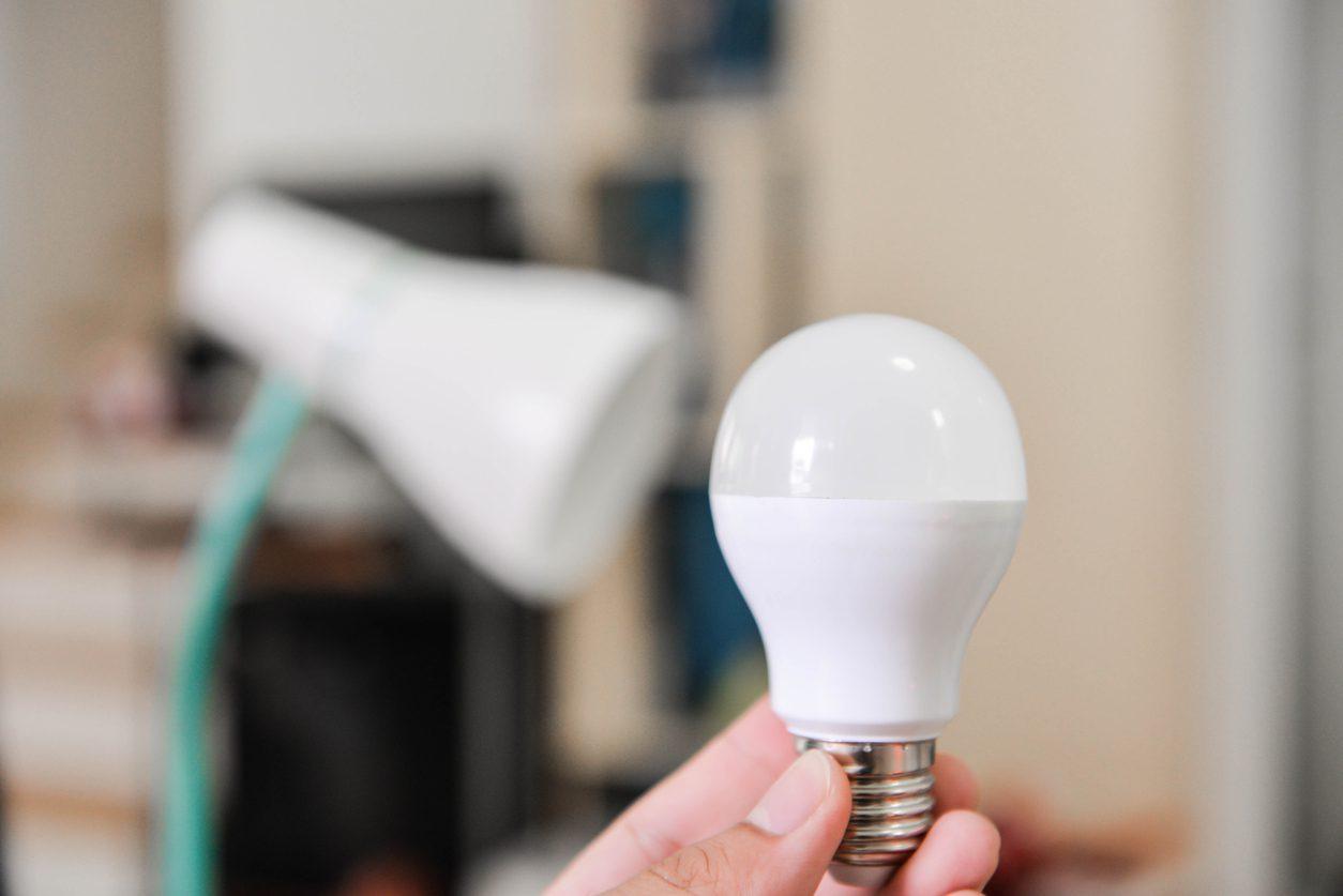 Tasarruflu led ışıkların ev içinde kullanımı.