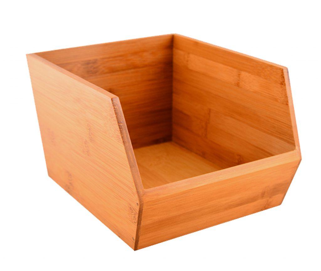 Kullanışlı ve şık bambu kutu.