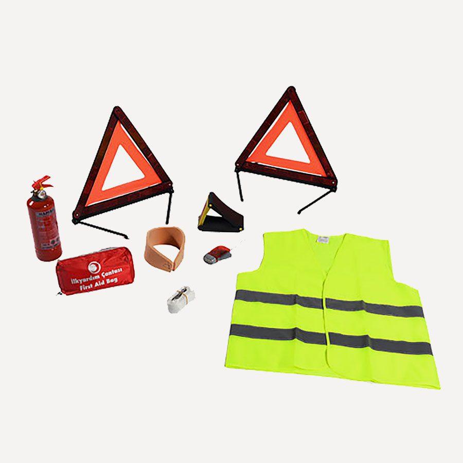Güvenliğiniz için gereken eşyalar.