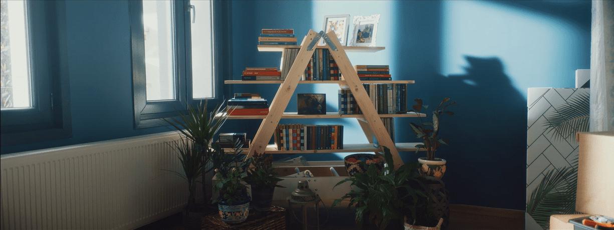 Merdiven kitaplık nasıl yapılır?