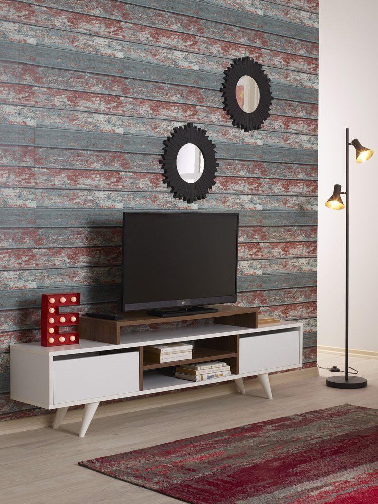 Ourma odası ve salonlar için koyu renk duvar kağıtları..