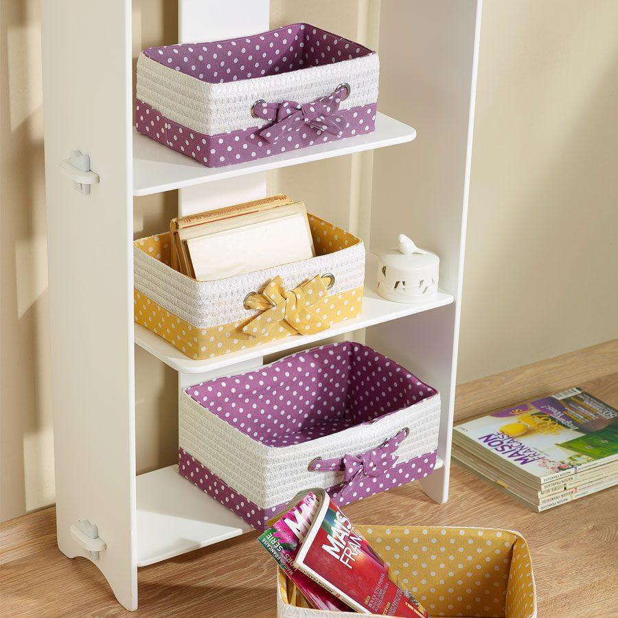 Evde düzen sağlayacak saklama kutuları.