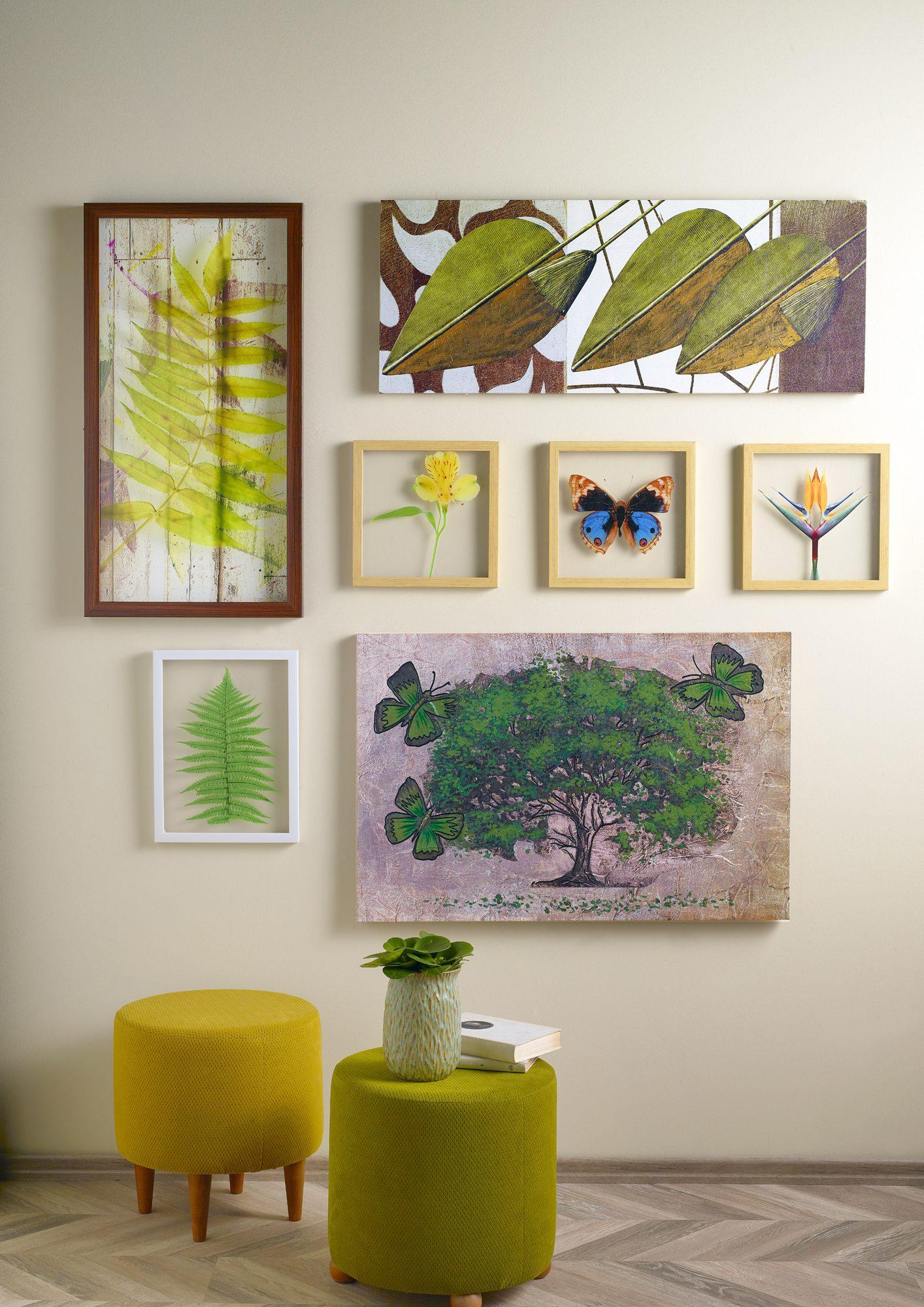 Doğal Yaşam'da duvar dekorasyonu.