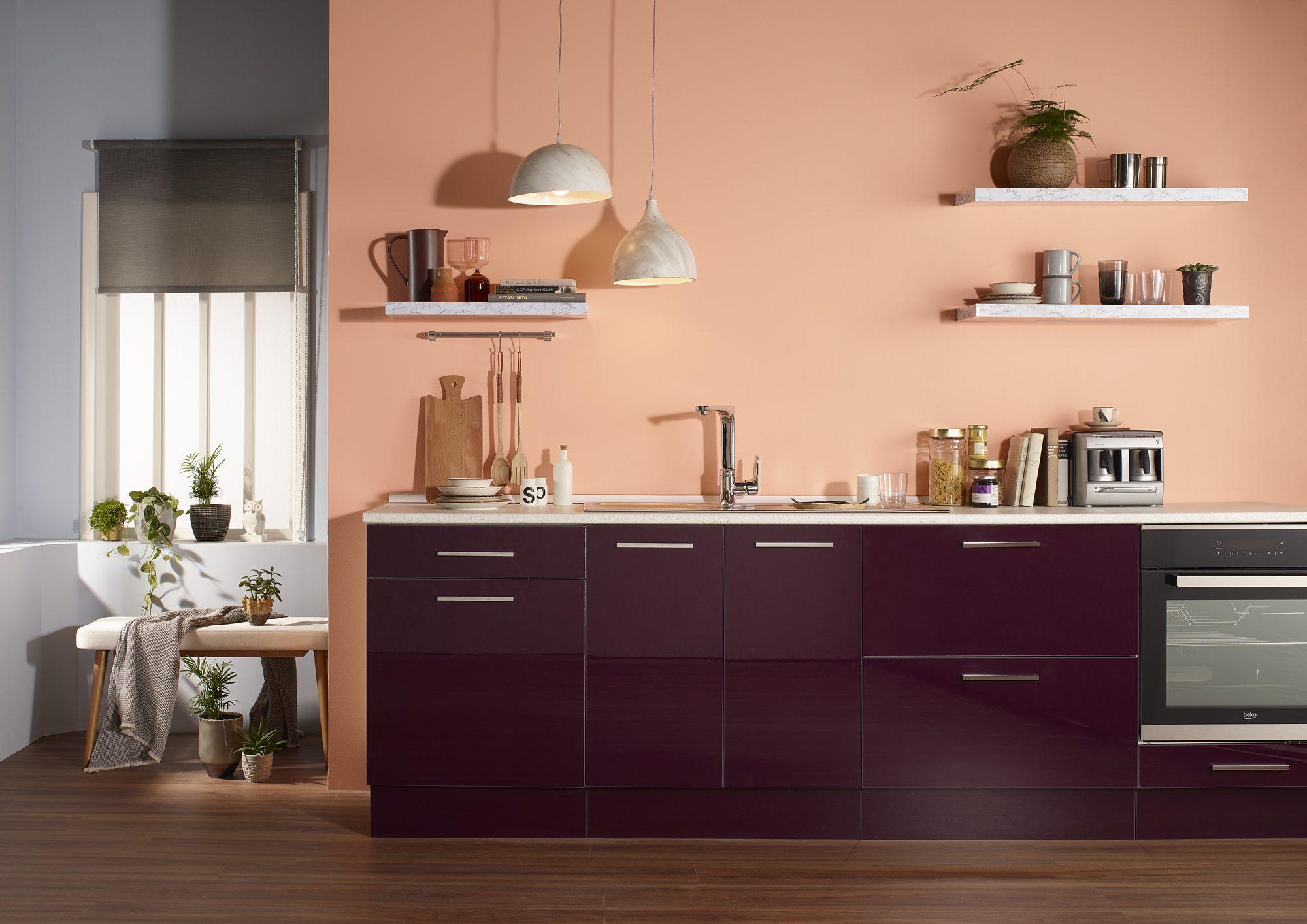 Mutfakta canlı renkler