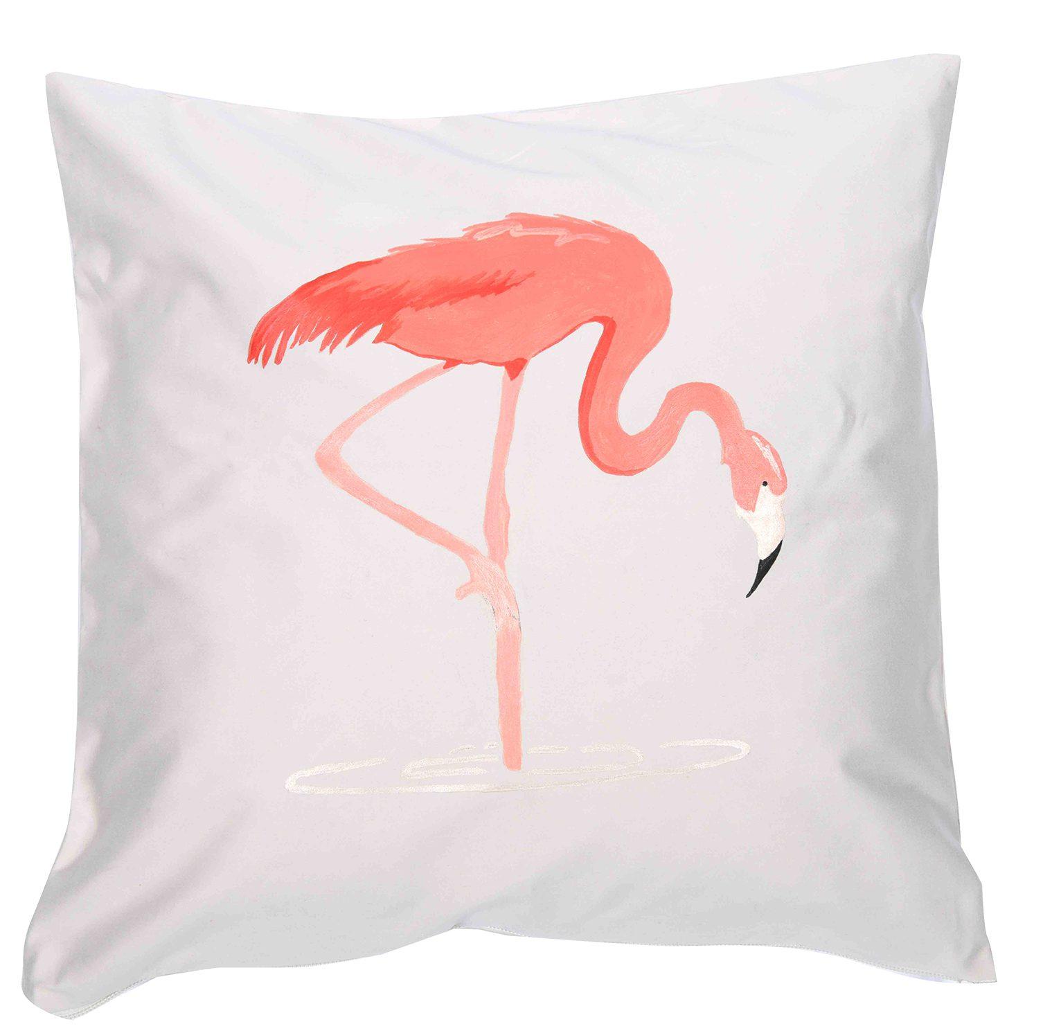 Flamingo desenli yastık kılıfı