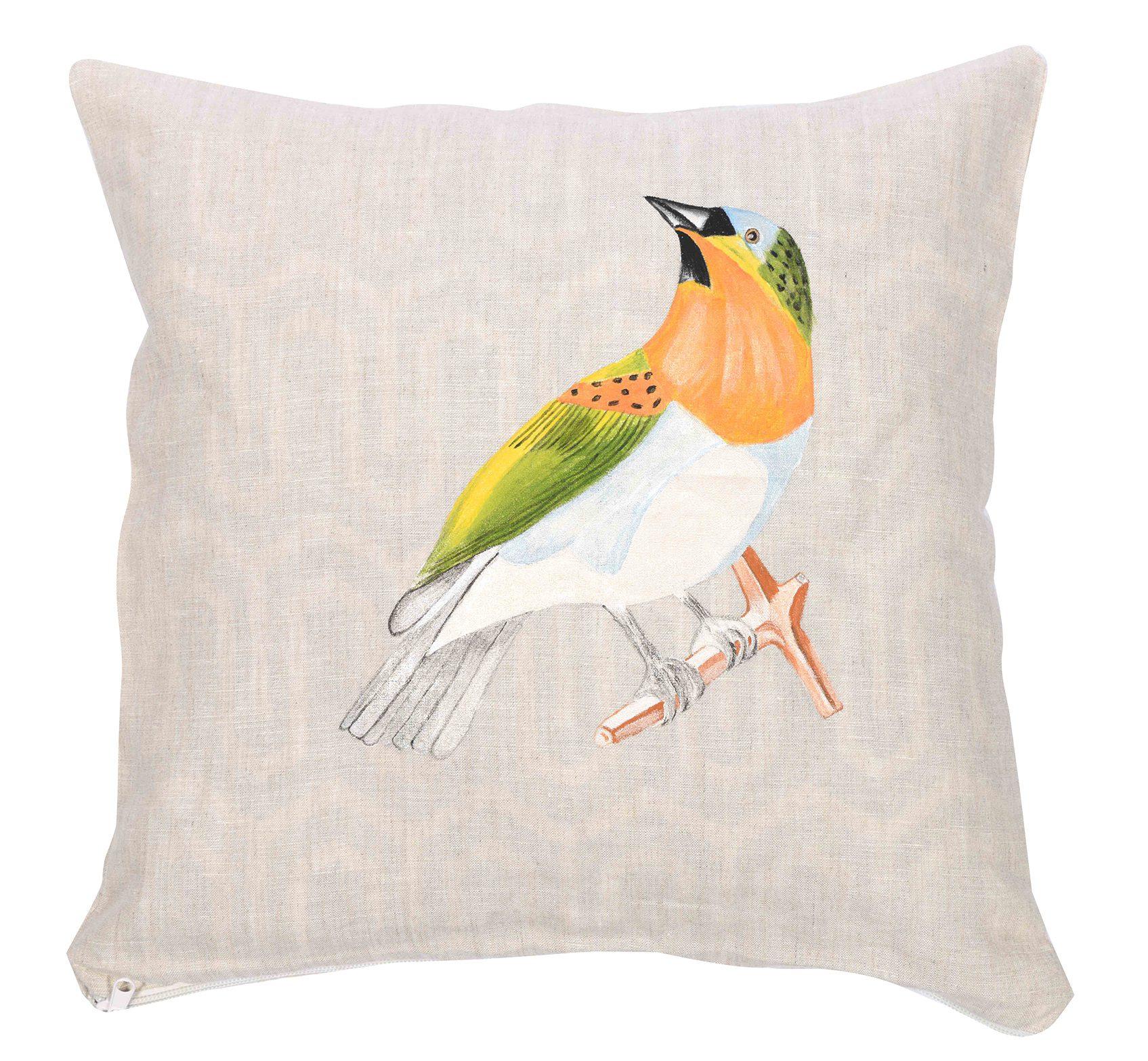 Kuş motifli yastık kılıfı