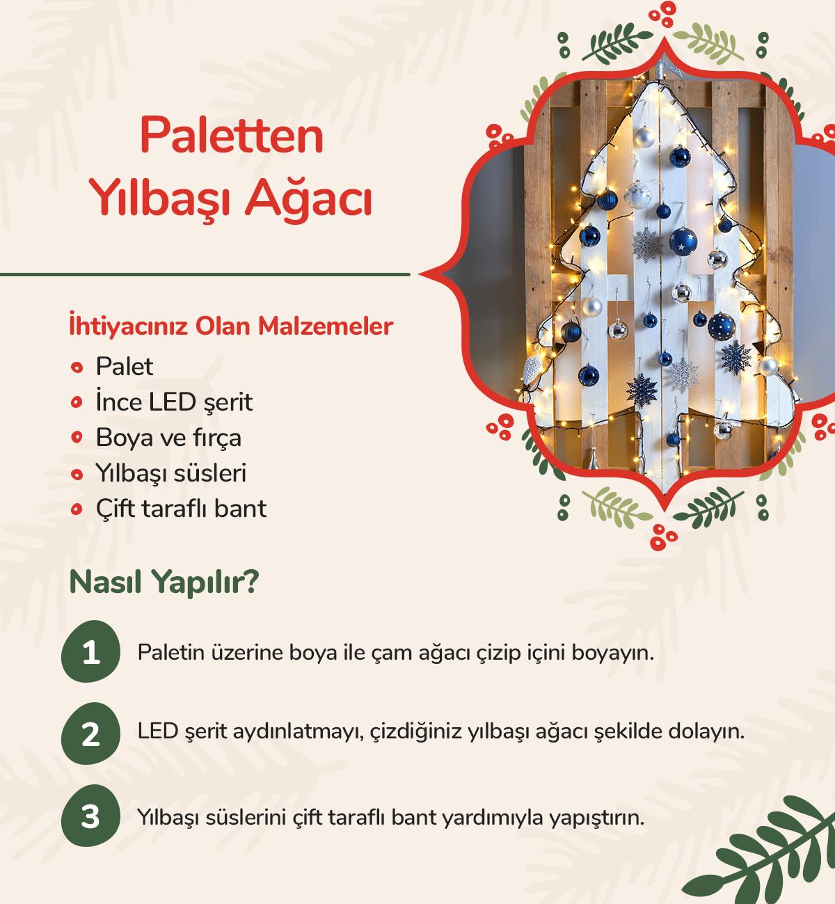 Paletten yılbaşı ağacı nasıl yapılır?