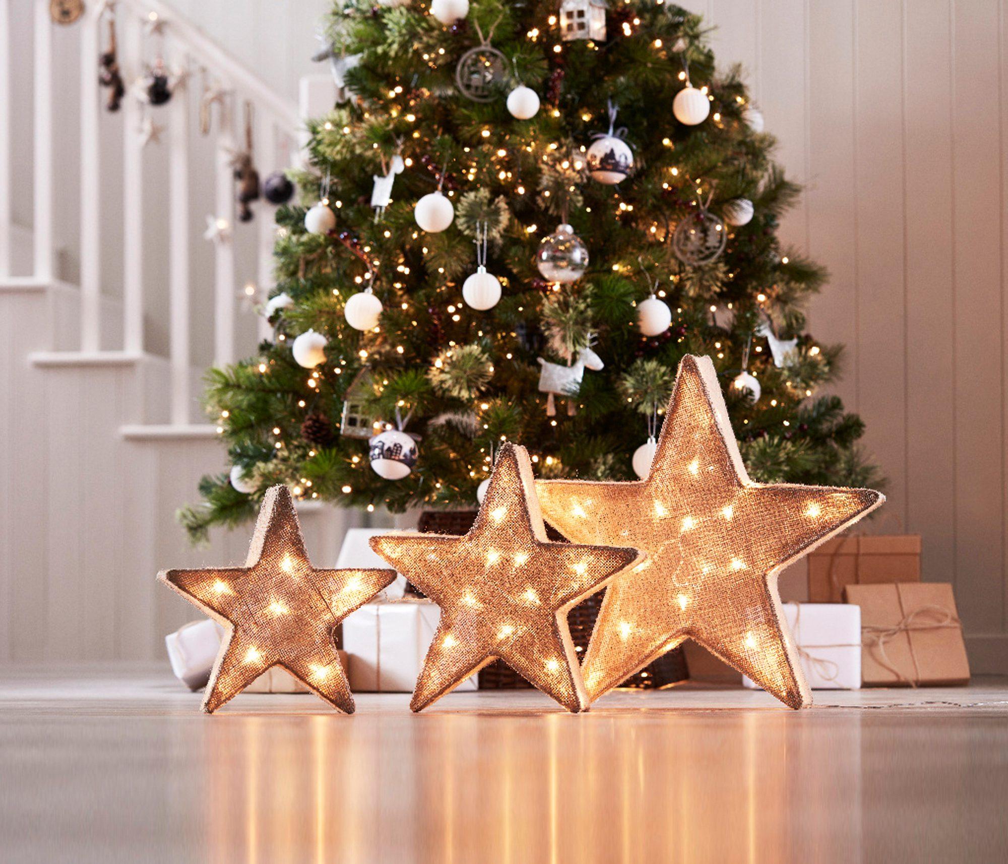 Yılbaşı için ışıklı yıldız
