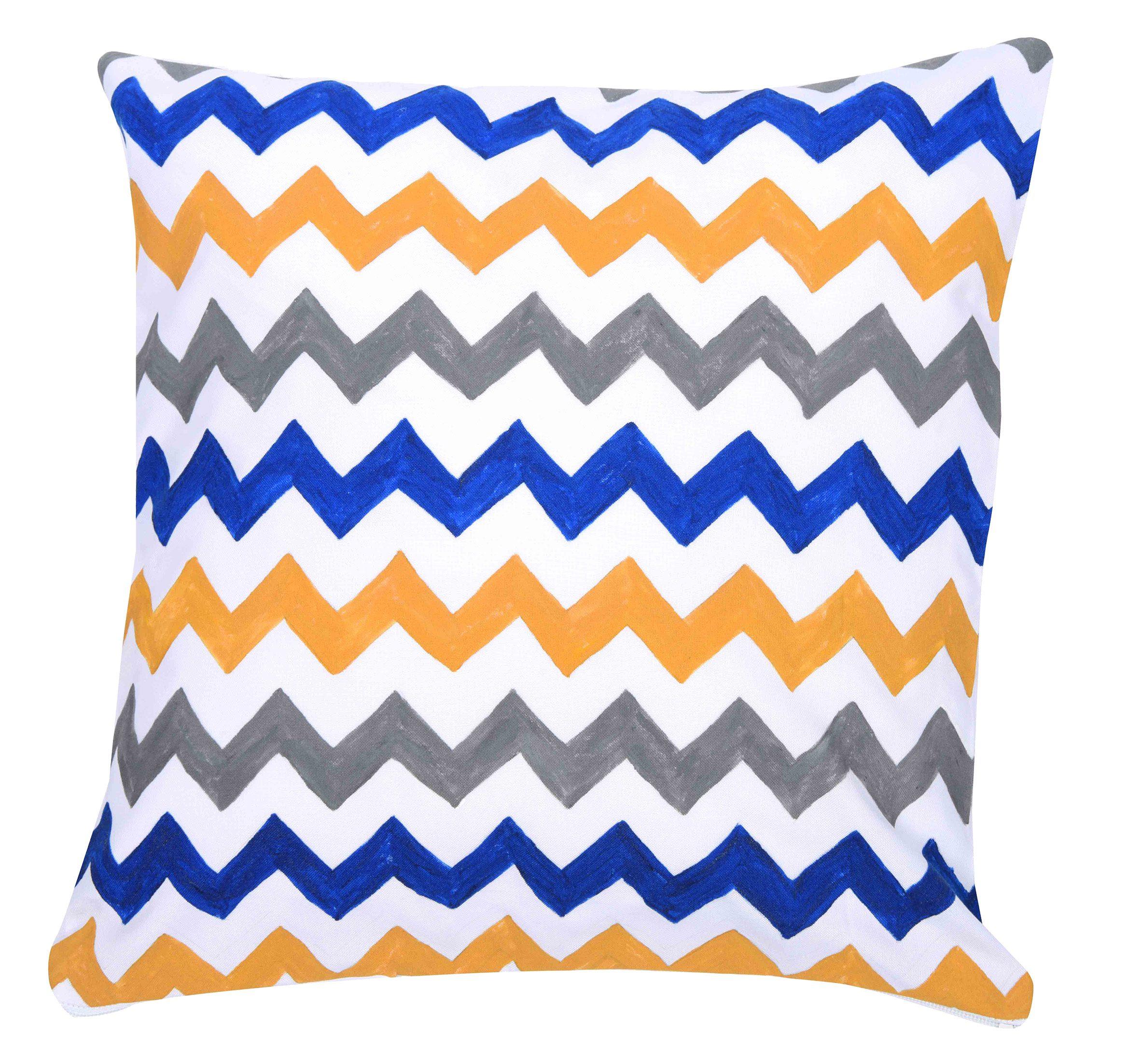 Zigzag desenine sahip yastık kılıfı