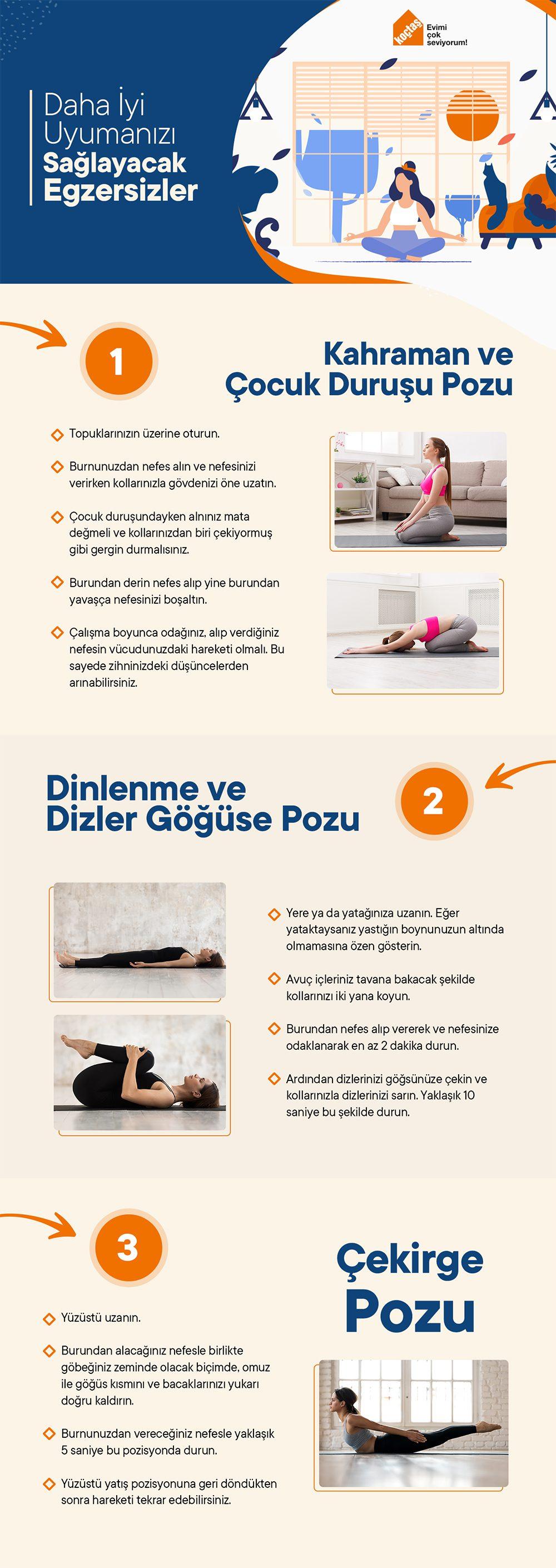 Daha İyi Uyumak İçin Egzersizler