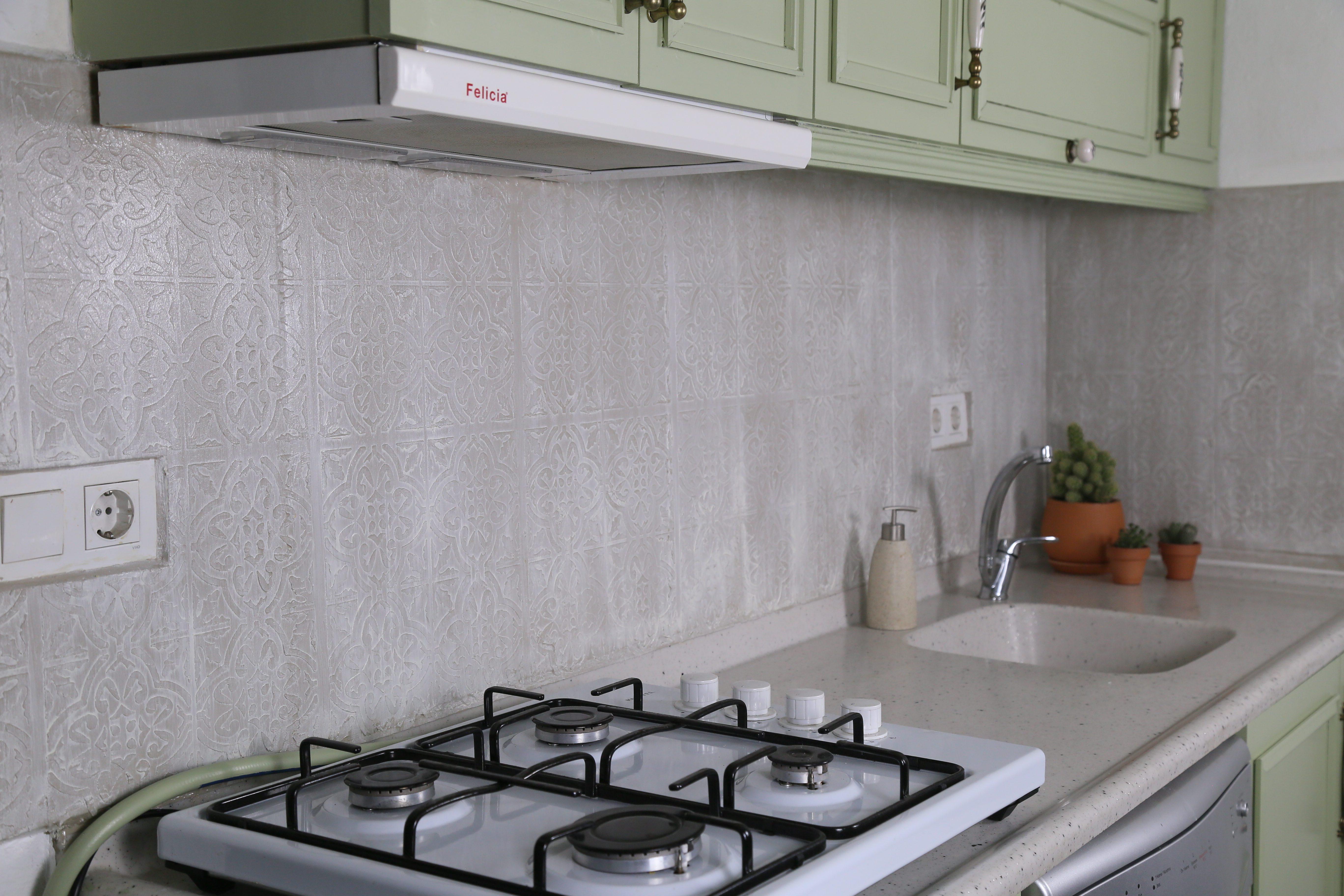 Mutfak Tezgah Arası Stencil Uygulaması