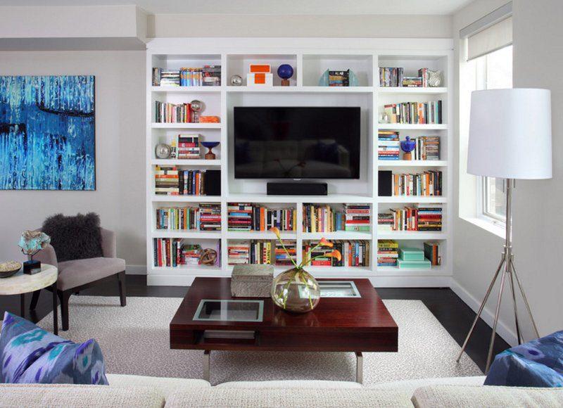salon için kitaplık modelleri