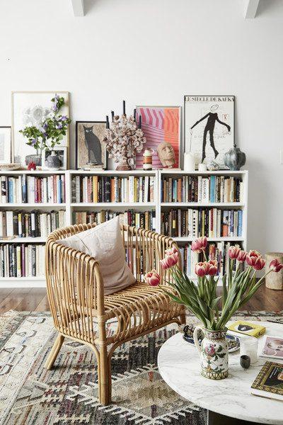 salonda kitaplık fikirleri